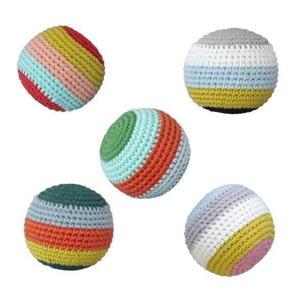 Crochet Ball Stripe with beep