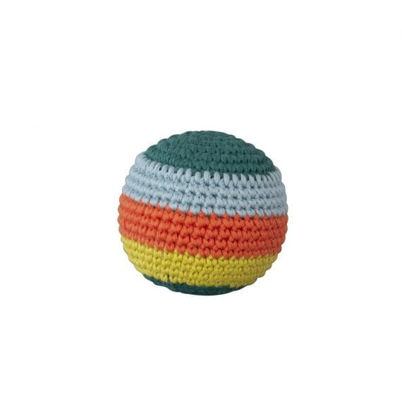 Crochet Ball Stripe with beep dark green 2