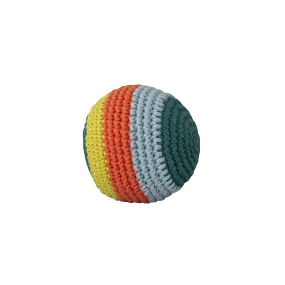 Crochet Ball Stripe with beep dark green