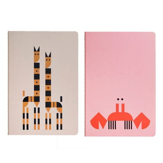 PL0704 Plentimals Notbook set Crab Giraffe