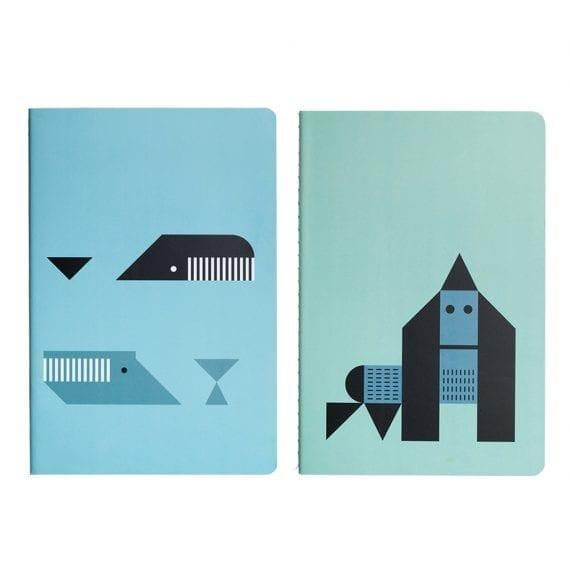 PL0704 Plentimals Notebook set Whales Gorilla