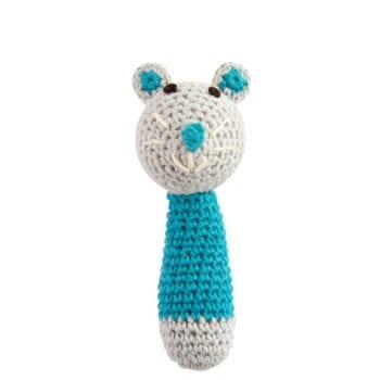 Cochet Rattle Mini Mouse Light Blue