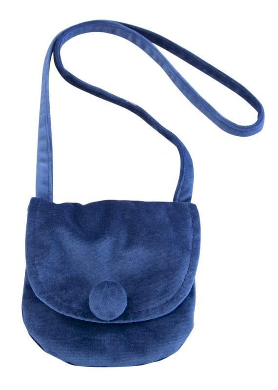 velvet bag blue