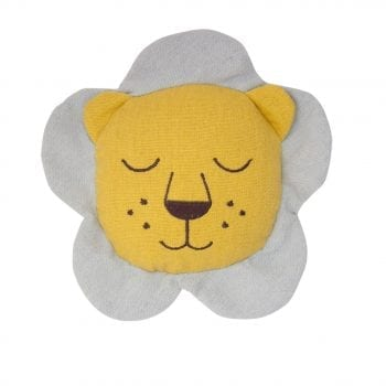 Lion Face Rattle Linen