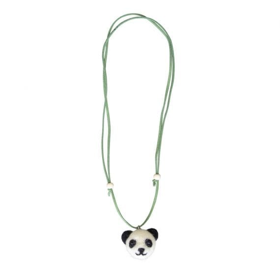 Necklace Woolfelt Panda