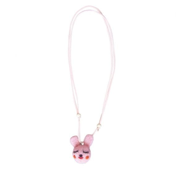 Necklace Woolfelt Bunny