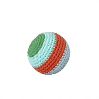 Crochet Ball Stripe with beep green