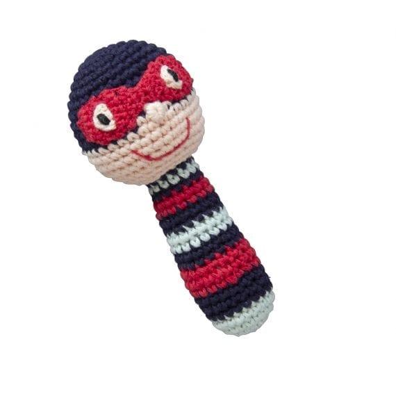 Crochet Rattles Super Hero Blue