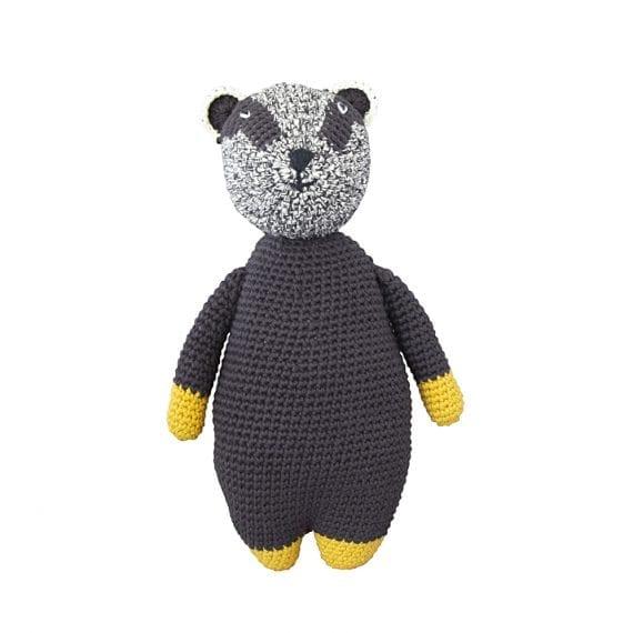Crochet doll woodland badger