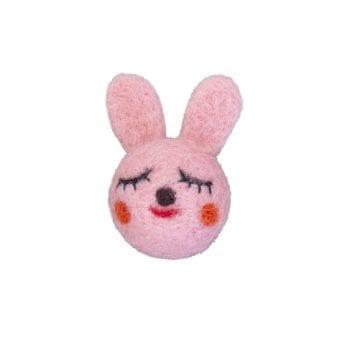 Brooch woolfelt bunny
