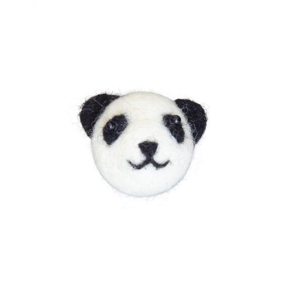 Brooch woolfelt panda
