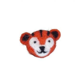 Brooch woolfelt tiger