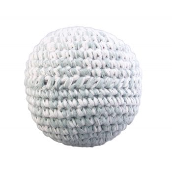 Crochet ball green blue