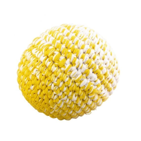 Crochet ball yellow