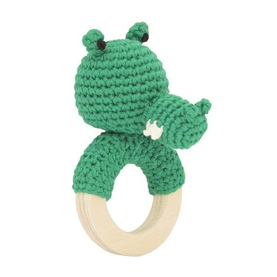 Crochet rattle crocodile