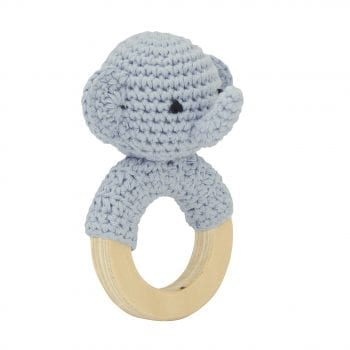 Crochet rattle elephant