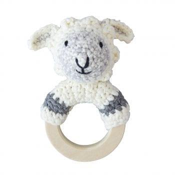 Crochet Rattle Woodland Sheep