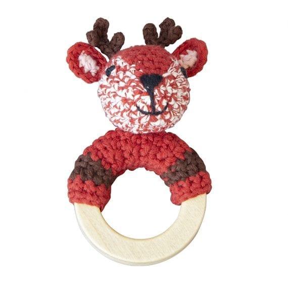 Crochet Rattle Woodland Deer