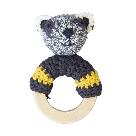 Crochet Rattle Woodland Badger