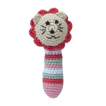 Crochet rattle lion