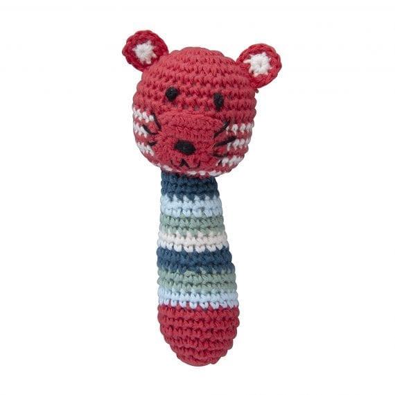Crochet rattle tiger