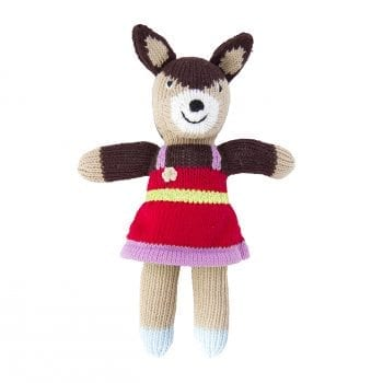 Knitted deer girl mini