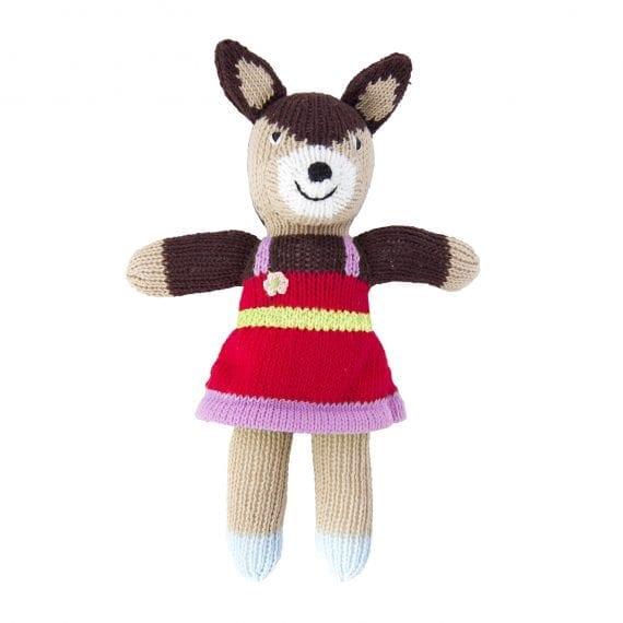Knitted deer girl mini