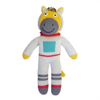 knitted giraffe spaceman