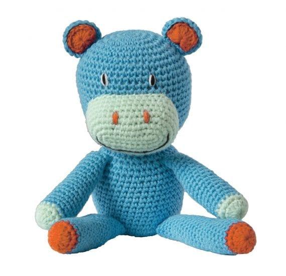 Crochet hippo blue