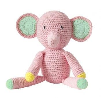 Crochet elephant pink
