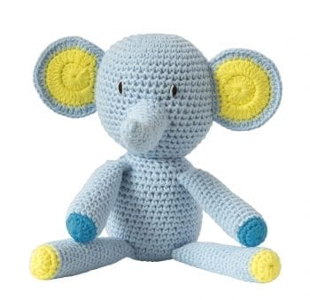 Crochet elephant blue
