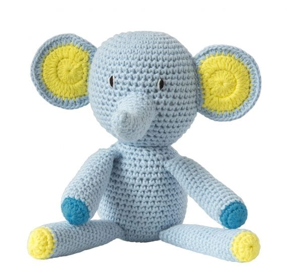Crochet elephant blue