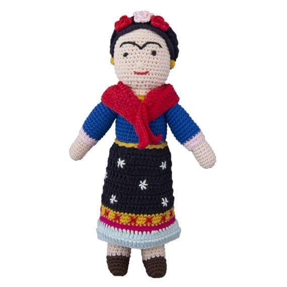 Crochet doll Frida Kahlo