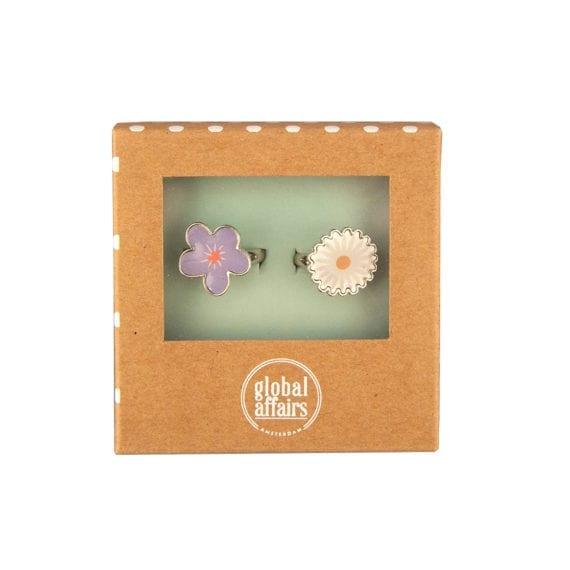 Rings Flowers Daisy & Violet Packaging