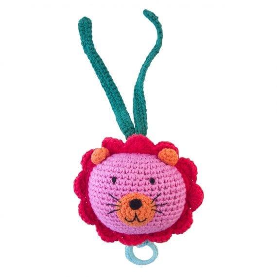 crochet music box lion