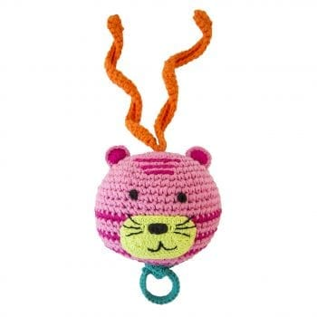 crochet music box tiger