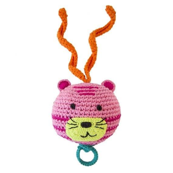 crochet music box tiger