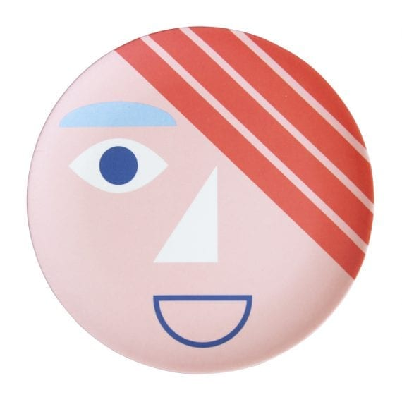 Bamboo plate face coral