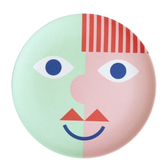 Bamboo plate face green
