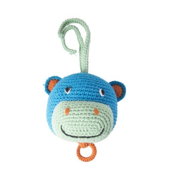 crochet music box hippo