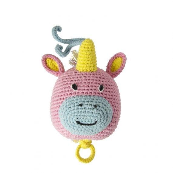 crochet music box unicorn