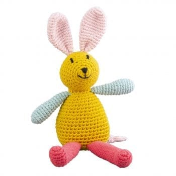 Crochet music bunny yellow