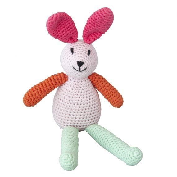 Crochet music bunny pink