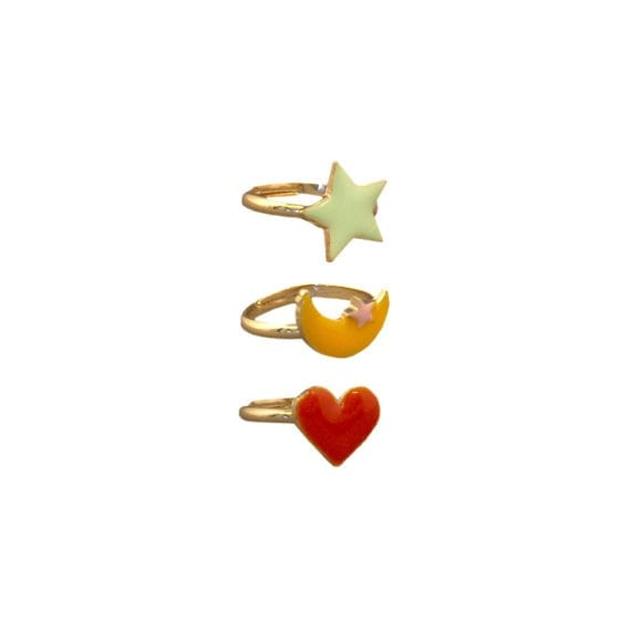 Rings Heart Star Moon