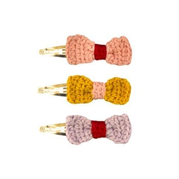 Crochet Hairclips Ribbon Assorted