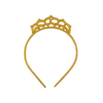 Crochet Hairband Crown Gold