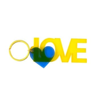 Keyring Love Yellow