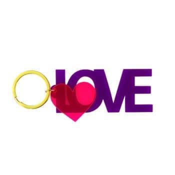 Keyring Love Purple