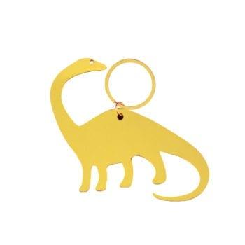 Keyring Dinosaur Gold