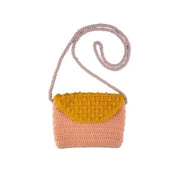 Crochet Bag Pink Yellow